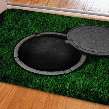 False Trap Pattern Welcome Doormat