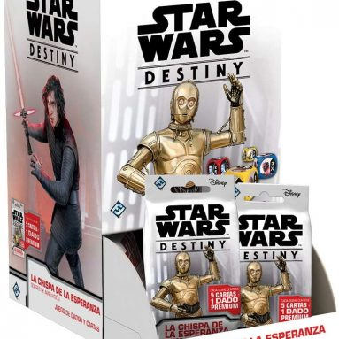 Fantasy Flight Games- Starwars Destiny Display with 36 Expansion Envelopes: The Spark of Hope (SWD18ESD)