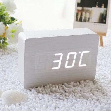 Fashion White LED Wooden Clock