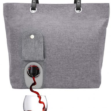 Fashionable Wine Purse with Hidden