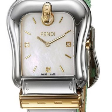 Fendi Women's 'B.' Swiss Quartz Stainless Steel and Leather Dress Watch