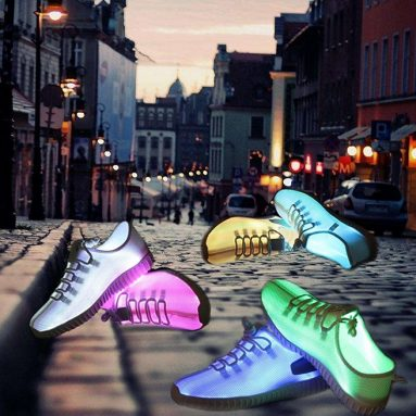 Fiber Optic LED Light Up Shoes 11 Colors USB Charging Flashing Sneakers