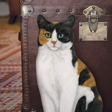 Fiddler's Elbow Calico Cat Door stop