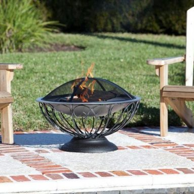 Fire Sense 29 in. Stainless Steel Base Urn Fire Pit