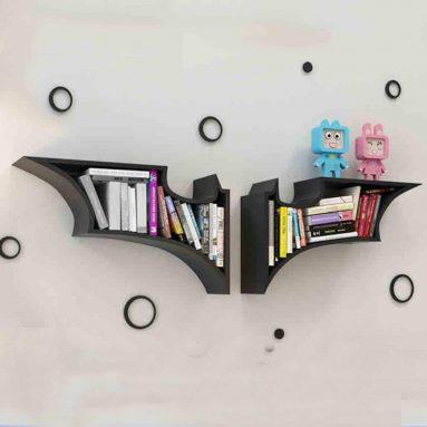 Firm Shelves & Drawers Wall shelf Batman style bookshelf