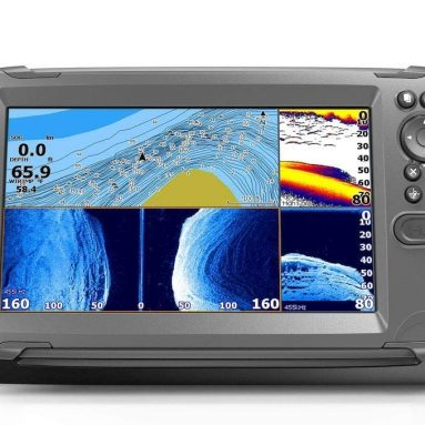 Fishfinder/Chartplotter with TripleShot Transom Mount Transducer and US Inland Maps