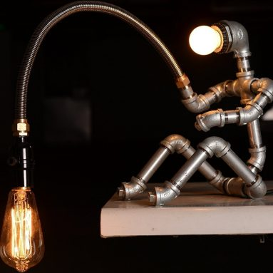 Fishing Man Table Lamps