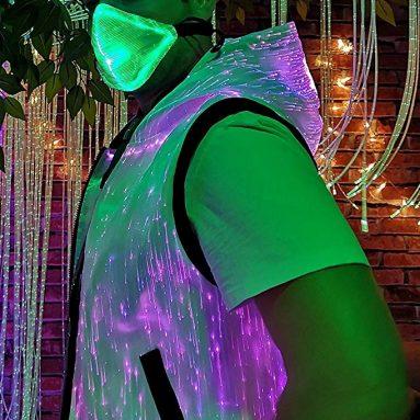 Flashing Mask Luminescent Fiber Party Mask