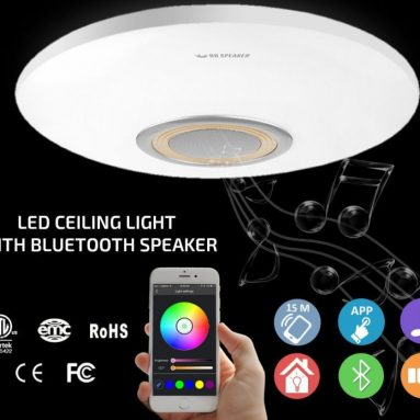 Flush Mount Ceiling Light Fixtures with Bluetooth Speaker