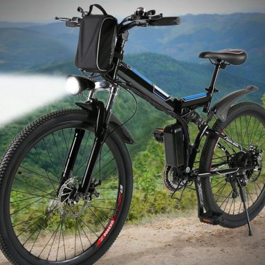 "Foldable Electric Mountain Bike 26"" with 36V 8AH Large Capacity"