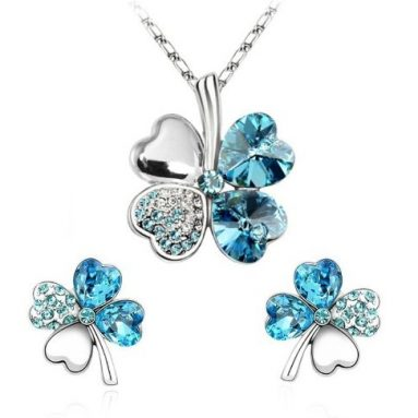 Four Leaf Clovers Set Necklace