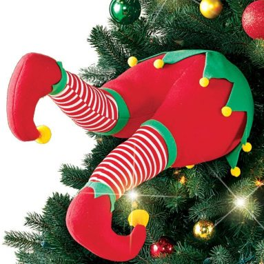 Funny Christmas Tree Legs Decoration