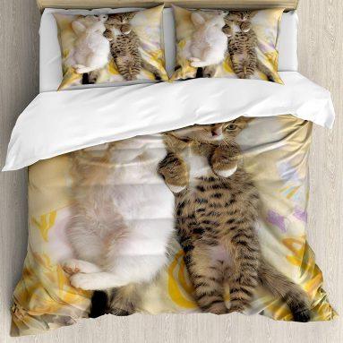 Funny Cat Duvet Cover Set