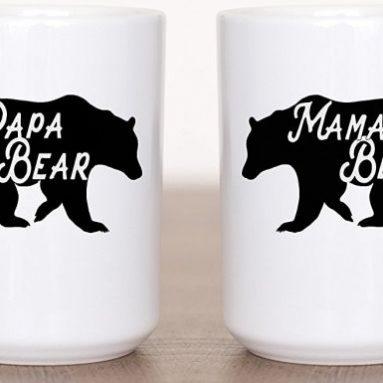 Funny Mom and Dad Animal Coffee Mug