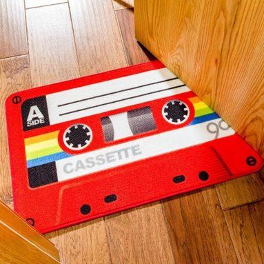 Funny Retro Red Cassette Doormat