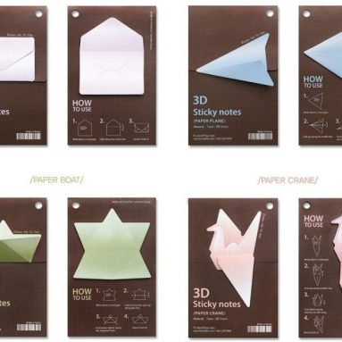 FunnyFish 3D Origami Sticky Notes – Paper Plane