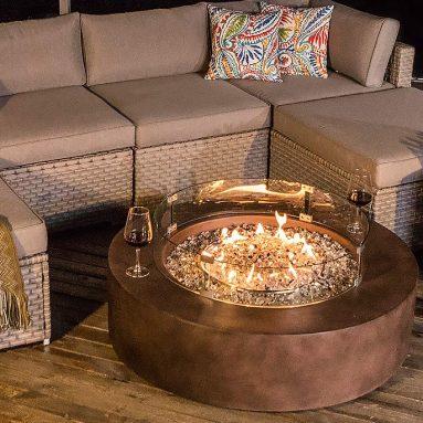 Furniture Set Sofa w Propane Firepit Table