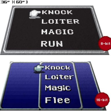 GG Promo Retro RPG Menu Doormat Welcome Floormat