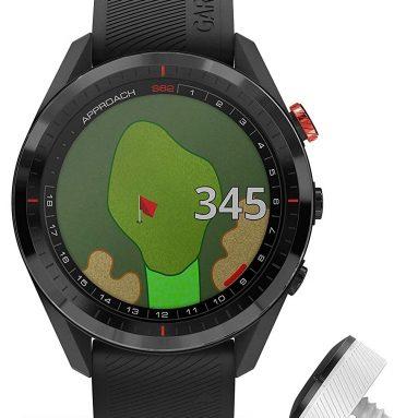 Garmin Approach S62 Bundle, Premium Golf GPS Watch with 3 CT10 Club Tracking Sensors