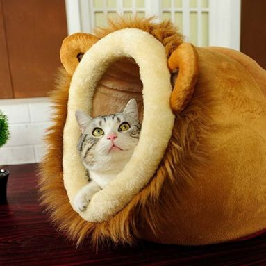 Lion Shaped Cute Warm Plush Pet Dog Cat Bed