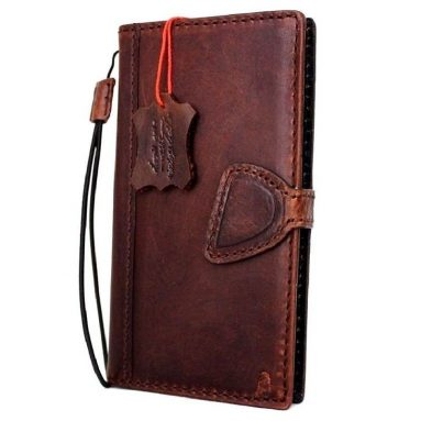 Genuine Italian Natural Leather Case for Iphone 7 Book Wallet