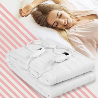 Giantex Heated Mattress Pad W/Safety 8 Temperature Regulation and 4 Mode Timing Function, Washinable and Detachable Electric Blanket