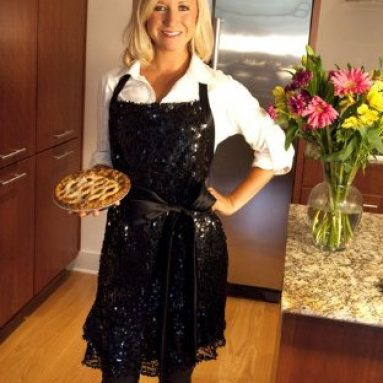 Glamour Girl Black Sequin Apron