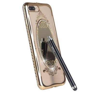 Glass Mirror Crystal Clear Soft Flexible Luxury Makeup Case Cover for iPhone 7 Plus 5.5inch