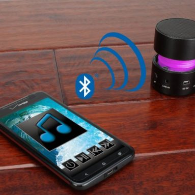 Glowing Rechargeable Bluetooth Speaker for iPhone 5S,5C,5