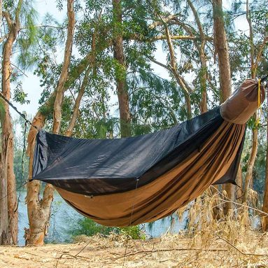 Go Outfitters Go Camping Hammock 2.0 w/Built-In Mosquito Net