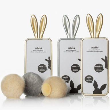 Gold Bunny Rabbit Ears Design iPhone 5S / 5