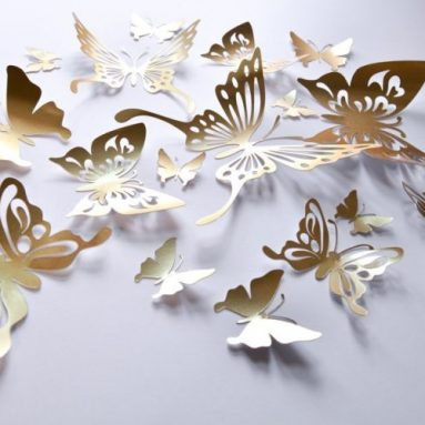 Gold Butterfly Wall Decals