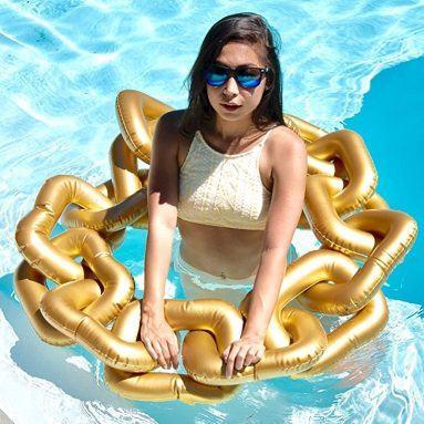 Gold Chain Pool Float Lounger Ring