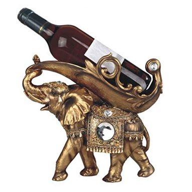 Golden Thai Elephant Wine Holder
