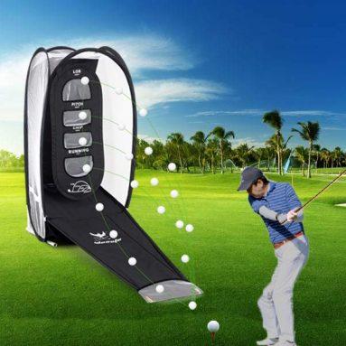 Golf Hitting Net Practice Target Chipping Indoor Training Swing Golfing Mat