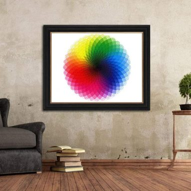 Gradient Color Rainbow Large Round Jigsaw Puzzle Difficult and Challenge