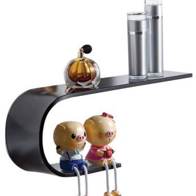 Gravity Decor Stylish Bent Glass Shelf