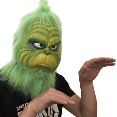 Grinch Funny Mask Melting Face Latex