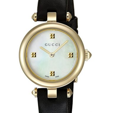 Gucci Women's Swiss Quartz Gold-Tone and Leather Dress Watch