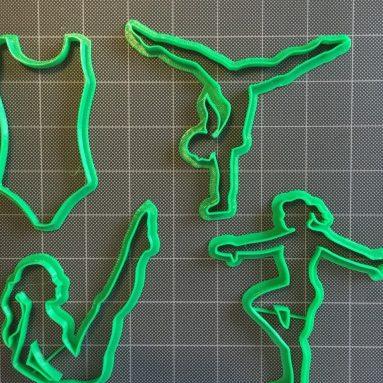 Gymnastic Fondant Cutter/Cookie Topper Cutter