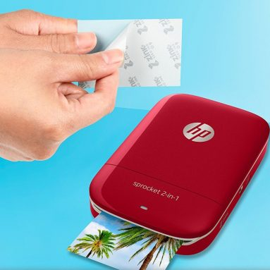 HP Sprocket 2-in-1 Portable Photo Printer & Instant Camera