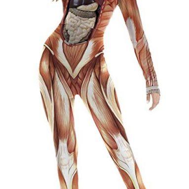 Halloween Costumes Jumpsuits Digital Printed Skinny Catsuit
