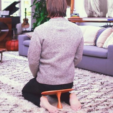 Handcrafted Meditation Bench