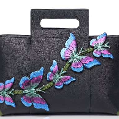 Handmade Butterfly Ladies Genuine Leather Large