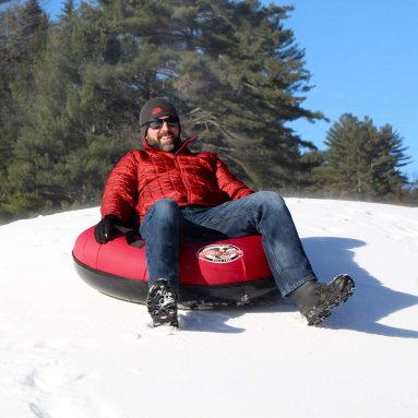 Hard Plastic Bottom Inflatable Adult Sled