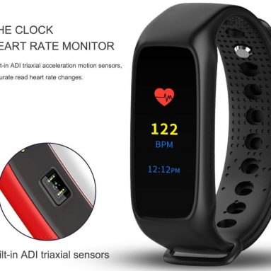 Heart Rate Smart Fitness Tracker Color Display Screen Watch