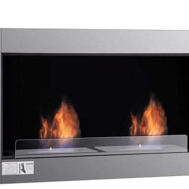 Heater Unique Design Dual Burner Fireplace
