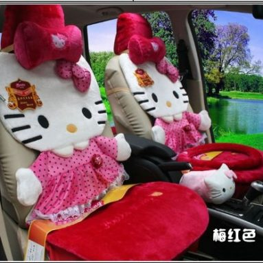 Hello Kitty Auto Car Front Rear Seat Cover Plush 12pcs