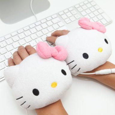 Hello Kitty USB Handwarmers Gloves