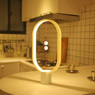 Ellipse magnetic mid-air switch USB powered LED lamp